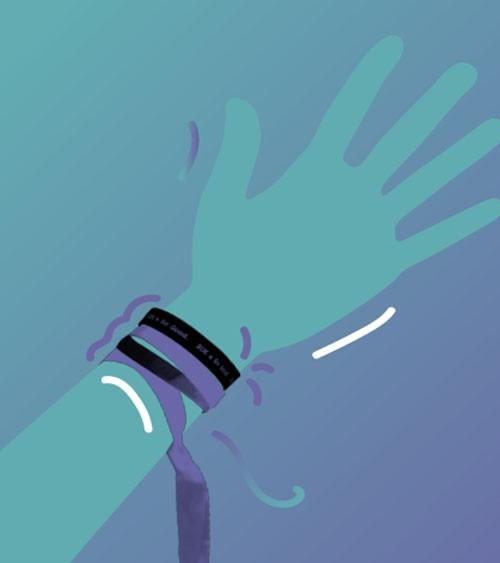 Bracelet à personnaliser Mon ruban.