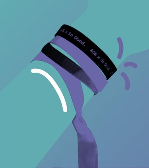 Bracelet à personnaliser Mon ruban - Zoom.